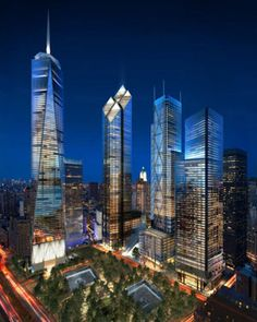World Trade Center   New York City   WTC Memorial Plaza:   Michael Arad & Peter Walker & Partners   WTC Memorial Museum:   Davis Brody Bond  WTC Museum Pavilion:   Snøhetta AS  Silverstein Properties:  Tower 2: Foster + Partners   Tower 3: Richard Rogers Partnership  Tower 4: Maki and Associates  Rendering © Silverstein Properties  Completion Dates: 2011-2015  www.netkaup.is