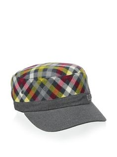 Kangol Kid's Mini Checks Army Hat (Dark Flannel)