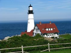 Cape Elizabeth, Maine  This lighthouse is beautiful and a great visit