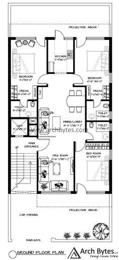 Modern House Floor Plans, Simple House Plans, New House Plans, Dream House Plans, House Roof Design, Design Your Dream House, Modern House Design, New Model House, Model House Plan