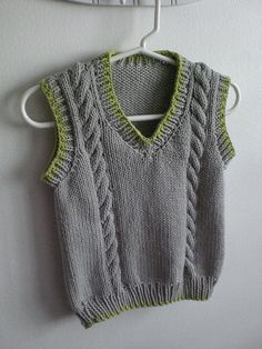 New Knitting Vest Pattern Children Ideas Knitting Patterns Boys, Knitting For Kids, Knitting Stitches, Crochet Patterns, Lace Knitting, Crochet For Boys, Crochet Baby Booties, Knit Crochet, Slippers Crochet