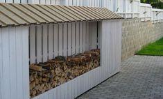 Bilderesultat for garasje vedbod Bauhaus, Outdoor Furniture, Outdoor Decor, Sweet Home, Shed, Backyard, Exterior, Outdoor Structures, House