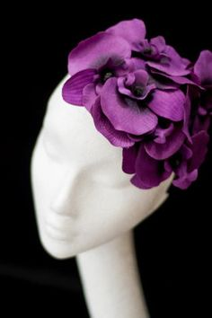 Flower orchid headpiece fascinator hat by PrincessPalles on Etsy, €75.00