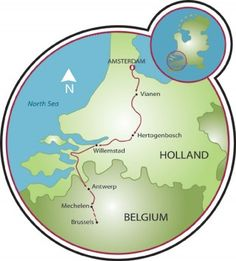 Brussels To Bruges Bike and Boat Tour Map Cycling Route Maps