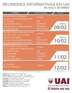 REUNIONES INFORMATIVAS EN #UAI  Más información:  http://quevasaestudiar.com/estudiar-en-Universidad-Abierta-Interamericana-16  #sistemas #diseño #nutrición #EducaciónFísica