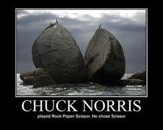 Scissors can beat rock!!! | Chuck Norris | Pinterest | Beats ...