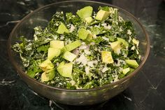 Salad For President - Faux Caesar, Kale Salad with Avocado and Pecorino ...