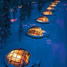 My Bucket List....Renting a glass igloo in Finland, perfect way to see the Northern lights...... That would be awesome!!