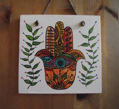 Hamsa Hand signhamsa paintinghamsa arthamsa by heARTofNatureStudio fionagypsybunting.com