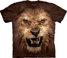 The Mountain Big Face Roaring Lion T-Shirt