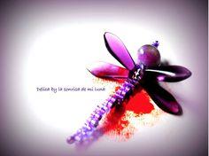 Pendiente...contra la violencia de género. Delica by La sonrisa de mi Luna.