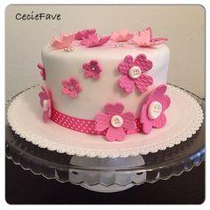 Funny flowers cake