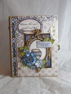 DELUXE MINI ALBUM - DESIGNS BY SHELLIE.  USING HEARTFELT CREATIONS COFFEE TALK PAPER COLLECTION     Click the link above to view detailed pi...