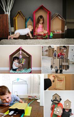 COMPARTE MI MODA: La moda femenina desde el punto de vista de las usuarias...: Cajas de cartón: Todo un juego de niños...