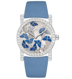 Chaumet Attrape-moi... si tu maimes Montre Precieuse rhodium-plated watch in white gold, set with 58 brilliant-cut diamonds (2.52ct) and one rose-cut diamond (0.10ct).