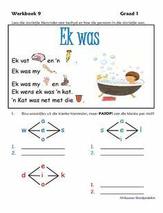 Afrikaanse Skool Projekte School Readiness, Afrikaans, Alps, Homeschooling, Make It Simple, Poems, Foundation, Teacher, Inspirational Quotes