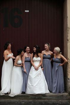 I love this steel grey dresses.