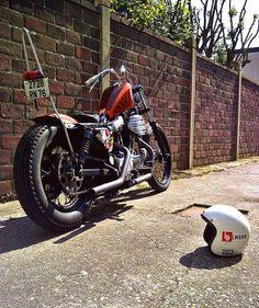 Image Sportster Chopper, Hd Sportster, Custom Sportster, Custom Bobber, Chopper Motorcycle, Harley Davidson Sportster, Custom Bikes, Bobber Bikes, Cool Motorcycles