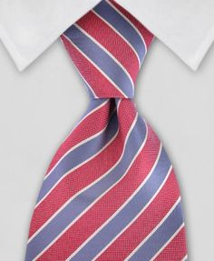 Coral and grey Wedding Tie for the Groom