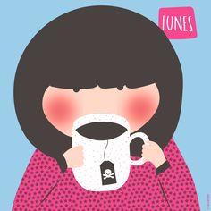 #coffe #monday #lunes #illustration