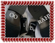 Wedding Shoe Stickers  I Do OO Rah  Free Shipping by AmericanDecal, $10.00