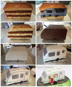 caravan cake tutorial                                                                                                                                                     More #caketutorial