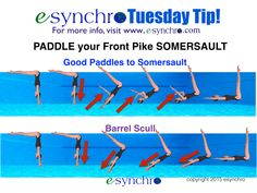 How to paddle for your front pike somersault