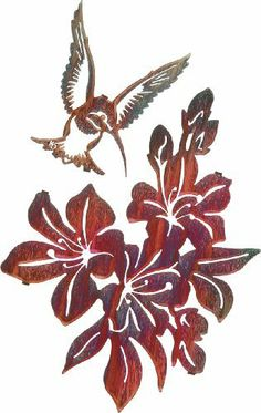 Azaleas w/Hummingbird set by Laser Wall Art & Home Décor. $89.96. Laser Cut Metal Wall Art. Easy hang hooks located on the back of the art piece. Made in the U.S.A. Laser cut from cold rolled steel, these wall art pieces are hand finished in beautiful color mosaics or acid washed to achieve a finish that is elegant and timeless.
