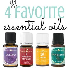 Want to get started with essential oils? Here are my top 4, gotta horde 'em, picks.