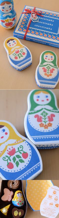 // chocolawka // Sweet Russian doll #chocolate #packaging PD