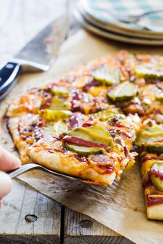 Bacon Cheeseburger Pizza? Crazy good! From Erica Kastner for The Pioneer Woman: Food & Friends.