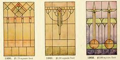 Leaded Glass from International Art Glass Catalogue by National Ornamental Glass Manufacturers Association of the United States and Canada, published in Stained Glass Door, Stained Glass Crafts, Stained Glass Designs, Stained Glass Patterns, Leaded Glass, Hay Bale Decorations, Art Nouveau, Art Deco, Construction Drawings