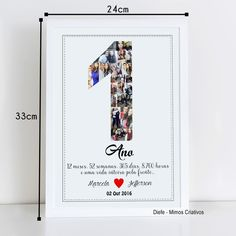 One Year Anniversary, Wedding Anniversary Gifts, Loving U, Diy Gifts, Diy And Crafts, Valentines, Frame, Nesta Casa, Romance