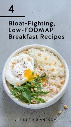 Promote digestion and fight bloat with these low-FODMAP breakfast recipes. Promote digestion and fight bloat with these low-FODMAP breakfast recipes. Fodmap Breakfast, Breakfast Recipes, Breakfast Healthy, 300 Calorie Breakfast, Fodmap Recipes, Paleo Recipes, Low Fodmap Foods, Paleo Food, Fodmap Meal Plan