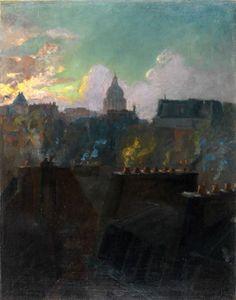 Le Panthéon - Albert Lebourg 1890-1900   French 1849-1928