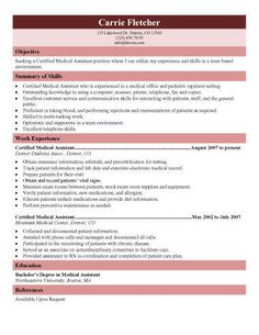 Resumes For Medical Assistants Pediatric Medical Assistant Resume Template  Pin Now Read Later .
