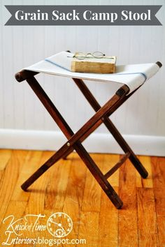 Grain Sack Furniture Camping Folding Chair ~ tutorial