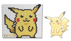 Pokemon - Pikachu. Beaded, Pattern, Peyote Stitch. www.vipbiser.com