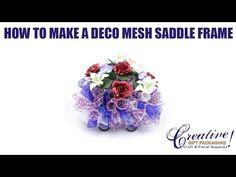 Deco Mesh Patriotic Saddle Frame Memorial Day Saddle July 4th - YouTube