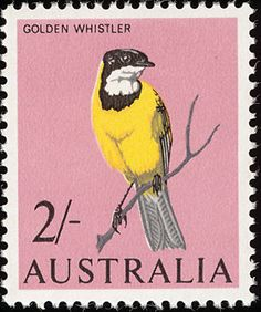 Australia bird stamp