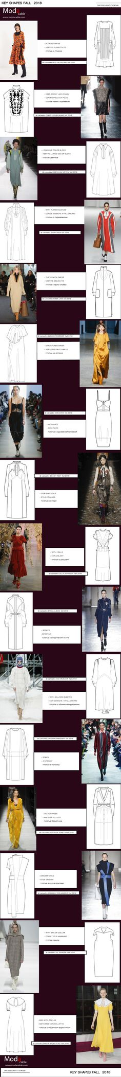 PopUp ModaCable.com Aw 2018, Technical Drawing, Popup, Trends 2018, Ss, Runway, Shapes, Fall, Cat Walk