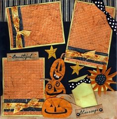 fall scrapbook layouts | Fall & Halloween Scrapbook Layouts
