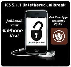 Get Your iOS 5.1.1 Untethered Jailbreak in Less Than 5 Minutes! Visit www.JailbreakFever.com #jailbreak #jailbroken #apple #iphone #ipad #ipod #appletv #cydia