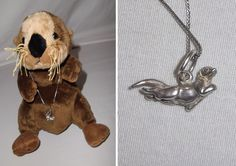 Dakota West Sterling Silver Sea Otter Pendant 925 Chain Necklace + BONUS Sale Benefits: The Marine Mammal Center Plush #DakotaWestShube #Pendant