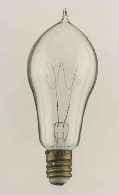 Carbon-filament lamp with an Edison cap, 1900 #Research100