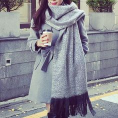 Trendy Wave Pattern Fringe Decorated Scarf For Women, AS THE PICTURE in Scarves | DressLily.com