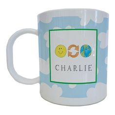 Kids Tabletop Mug Design: Save Our Planet   - Click image twice for more info - See a larger selection of baby solid feeding at http://zbabybaby.com/category/baby-categories/baby-feeding/baby-solid-feeding/  - gift ideas, baby , baby shower gift ideas, toddler  « zBabyBaby.com