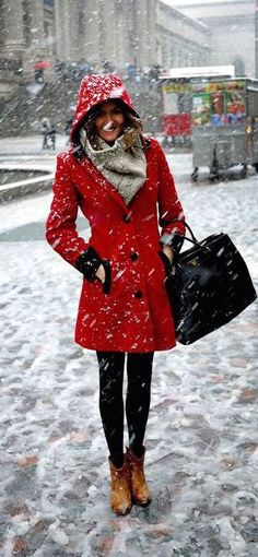 #winter #fashion / red