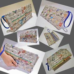 Carteras con materiales reciclables, diseño #1