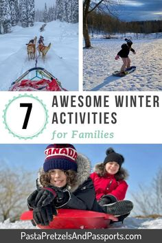Winter is not for everyone. But everyone can learn to have fun in the snow! We have compiled a list of 7 winter activities families can do outside. Whether its a bucket list adventure, or just spending time with your kids, winter can actually be a lot of fun. Winter fun for kids. Winter activities for kids. Outdoor winter activities for kids. Outdoor snow activities for kids. Winter snow activities for kids. Family winter activities. Winter family activities bucket lists. Canadian Winter, Canadian Travel, Adventure Bucket List, Family Adventure, Snow Activities, Family Activities, Winter Fun, Winter Snow, Cross Country Skiing